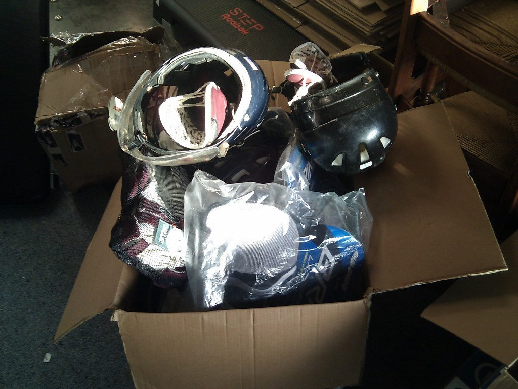 donated lacrosse equipment